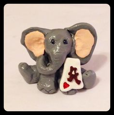 Alabama Elephant Mini Clay Sculpture by AmanteDeiCani on Etsy ‪#‎craftshout