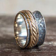 Eternity ring, Infinity ring, Stacking Ring, Silver wedding Band, boho Band, gypsy Ring, Silver Gold Band, boho Ring, hippie - Dreams R2266
