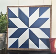Lucky in Hazy Skies Have you ever seen a Barn Quilt?  They're really popular out on the east coast where I grew up.  It's basically a hu...