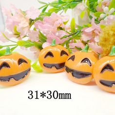 Lot 10pcs Halloween Pumpkin Party Cabochons by TheButtonSisters