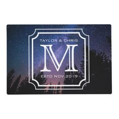 #createyourown #customize - #Handsome Monogram Beautiful Landscape Photo Simple Placemat