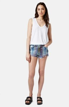 Topshop Moto Embroidered High Rise Cutoff Shorts (Light Denim) | Nordstrom, how would you style these? http://keep.com/topshop-moto-embroidered-high-rise-cutoff-shorts-light-denim-no-by-mokuch/k/1deVjXgBCg/