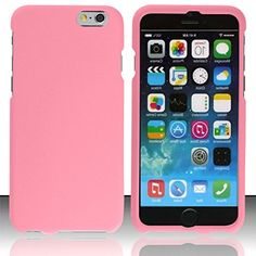 """myLife Light Chiffon Pink {Sleek Slim Modern} 2 Piece Snap-On Rubberized Protective Faceplate Case for the NEW iPhone 6 (6G) 6th Generation Phone by Apple, 4.7"""" Screen Version """"All Ports Accessible"""" myLife Brand Products http://www.amazon.com/dp/B00U0MDCSA/ref=cm_sw_r_pi_dp_vfhfvb05Y0Y99"""