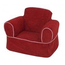 Superbe Red Chenille Childrenu0027s Chair Slipcover