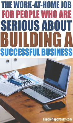 If you are serious about building a successful business from home - check this out! Not all work-at-home jobs are the same. While there are some that are legitimate side hustles that you can use to make some extra money each month or add to your emergency