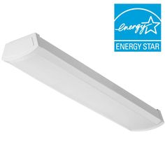 Lithonia Lighting 20 -Watt White Integrated LED Flushmount-FMLWL 24 840 - The Home Depot