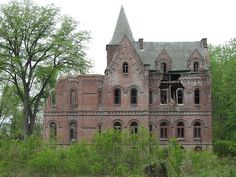 """""""Wyndcliffe Mansion - Mill Road, Rhinebeck, Dutchess County, New York"""" -- [Wyndcliffe is an abandoned mansion in the town of Rhinebeck, New York. The scale of this place is absolutely enormous & its style seems different from any of the other Hudson River estates. It is featured on the cover of a book on American ruins.]~[Photograph by joseph a (Joseph) - May 3 2009]'h4d-38.2012'"""