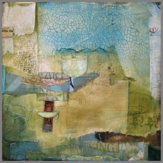 C. W. Slade never disappoints. Gorgeous. Encaustic collage