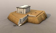 The White Temple and the Great #Ziggurat in the #Mesopotamian City of #Uruk
