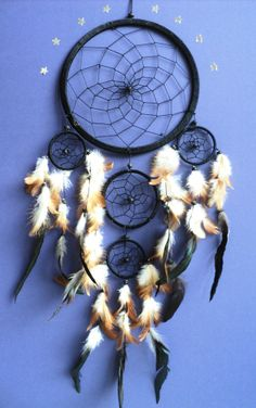 LARGE BLACK DREAM CATCHER traditional dreamcatcher NEW LARGE