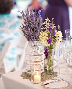 Lavender Centerpieces | Sofia Negron Photography | blog.theknot.com