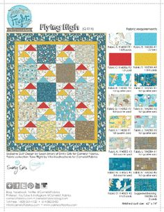 How To's Day | Flying High Quilt by Swirly Girls Design for Camelot Fabrics | Take Flight by Vita Mechachonis for Camelot Fabrics