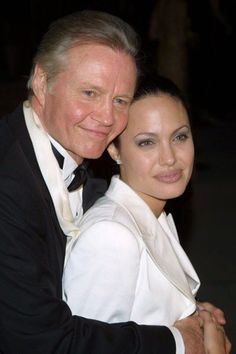 Jon Voight & daughter Angelina Jolie Nice to see there's a few shots of them together
