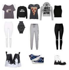"""""""1'st Day of School"""" by supersummerlover ❤ liked on Polyvore featuring Pusheen, Wildfox, River Island, NIKE, Topshop, WearAll, Dr. Martens, Nixon and Converse"""