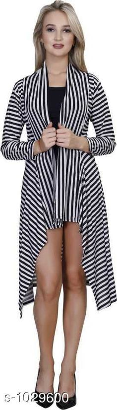 Capes, Shrugs & Ponchos Stylus Lycra Shrugs  *Fabric* Lycra  *Sleeves* Sleeves Are Included  *Size* M -34 in, L -36 in, XL- 39 in  *Length* Up To 34 in  *Type* Stitched  *Description* It Has 1 Piece Of Women's Shrug  *Pattern* Striped  *Sizes Available* Free Size, M, L, XL *   Catalog Rating: ★4 (113)  Catalog Name: Cora Stylus Lycra Shrugs Vol 18 CatalogID_124406 C79-SC1024 Code: 904-1029600-