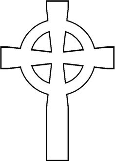 Another nice Celtic cross outline -- could be used to practice filler stitches, especially the Bayeux stitch. Celtic Cross Tattoos, Celtic Art, Wood Carving Patterns, Wood Patterns, Canvas Patterns, Cross Patterns, Scroll Saw Patterns, Cnc, Church Banners Designs
