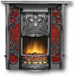 Superbe cheminée Art Nouveau