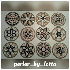 Coaster set (12) perler beads by perler_by_lotta