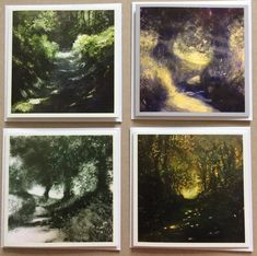 Artist Card, Star Cards, Square Card, Landscape Photos, Biodegradable Products, Countryside, Paths, Original Paintings, Environment