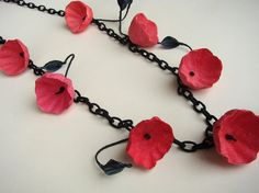 Eco friendly paper jewelry Chain Necklace with by AlessandraFabre, €30.00