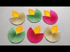 Easy Diwali decoration ideas l Diwali decoration diy/Paper Diya Craft l Diwali home decorations - YouTube