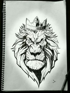 Sick Drawings, Dark Art Drawings, Tattoo Drawings, Animal Sketches, Animal Drawings, Art Sketches, Lion Sketch, Sketch Style Tattoos, Arte Hip Hop