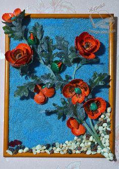 Маки из ракушек | Цветы из ракушек |Поделки из ракушек