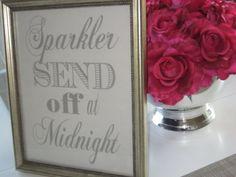 sparkler send off sign