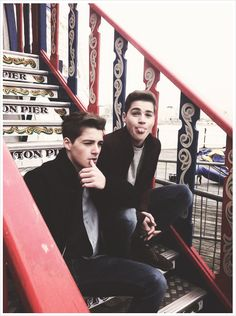 So Finn is all model looking and serious then we have jack...