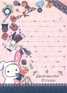 Sentimental Circus Memo Pad with rabbit & sweets 5