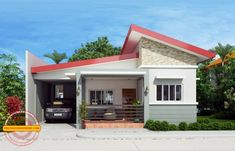 Simple house designs are easy to layout due to its simplicity and efficiency. Cecile is a one story simple house design with a total floor area of 100 sq. Modern Bungalow House Plans, Bungalow Haus Design, Small House Floor Plans, Simple House Plans, Bungalow Designs, Small House Interior Design, Simple House Design, Modern House Design, Home Interior