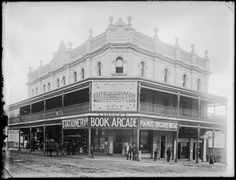 Old Municipal Chambers, Corner Hunter and Market Streets, Newcastle, NSW, [n.d.]. Picture: scanned from the original glass negative taken by Ralph Snowball.