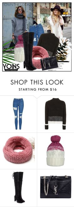 """""""Yoins 1"""" by merima-k ❤ liked on Polyvore featuring Topshop and Yves Saint Laurent"""