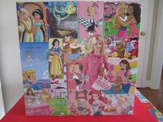 Girl's Decoupage Table Barbie/Princess by preppyretrogifts on Etsy. , via Etsy.