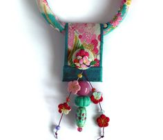 Turquoise Kimono Flower Dot by gretchenschields on Etsy, $135.00