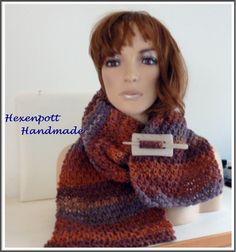 Strickschals - Schal Wolle 160 cm - ein Designerstück von Hexenpott bei DaWanda