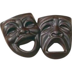 chocolate theater mask lollipops | Item # Drama Masks : Chocolate molded comedy and tragedy masks, 3 oz.
