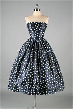 Vintage 1950s Dress  DAVID HART  Deadstock by mill street vintage, $345.00