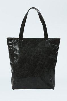 ♛ Black Faux Leather Metallic Shopper ♛ #TALLYWEiJL #new #collection