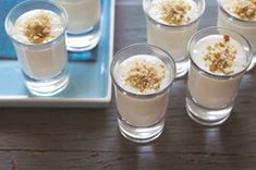 Set a higher #HappyHour standard with these delightful bourbon cheesecake shots! #dessert