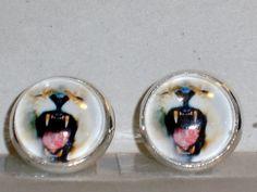 Ohrstecker - Ohrstecker Löwe Ohrringe Damen Ohrschmuck Glas - ein Designerstück von ausgefallene-Ohrringe bei DaWanda