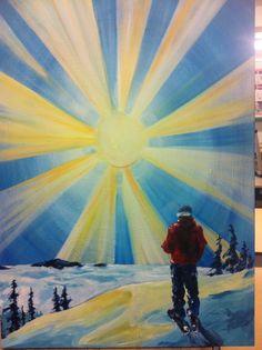 Kootenay Ocean. Wink art.  Rossland. My Arts, Ocean, Artists, Painting, Painting Art, Sea, Paintings, Paint, Draw