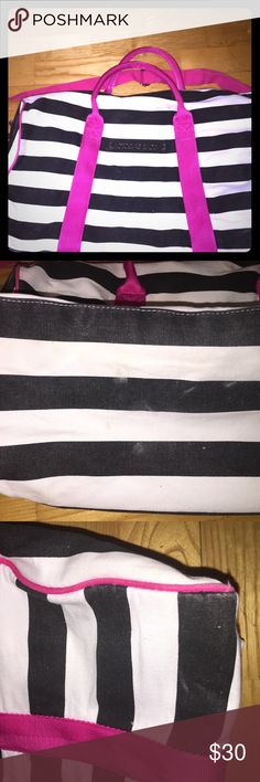 Victoria Secret Duffel In used condition with visible fading and wear. Bags Travel Bags