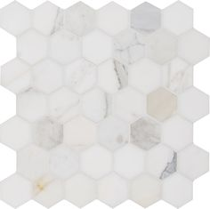 Calacatta Gold Hexagon 12 In. X 12 In. X 10mm Polished Marble Mesh-Mounted Mosaic Tile, (10 sq. ft., 10 pieces per case) - - Amazon.com