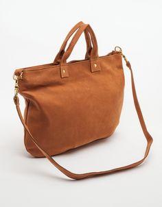 Cognac Nubuck Messenger Bag, Claire Vivier