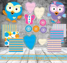 Hoot and Hootabelle - Value Pack Clipart and Papers ! INSTANT DOWNLOAD !!!