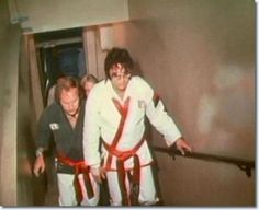 Elvis and Dave Hebler during the documentary filming.
