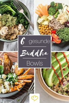 Buddha Bowls: 8 Schalen voller gesunder Köstlichkeiten Do you already know the healthy trend from the USA, which focuses on a bowl full of healthy treats? Buddha bowls are healthy, can be flexib Bol Buddha, Buddha Bowl, Food Bowl, Lunch Recipes, Vegan Recipes, Dinner Recipes, Clean Eating, Healthy Eating, Dieta Paleo