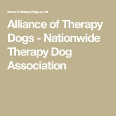 Alliance of Therapy Dogs - Nationwide Therapy Dog Association