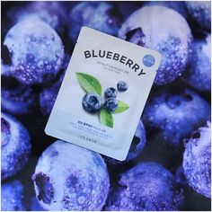 Store: Miniso Canada Product: It's Skin: The Fresh Blueberry Sheet Mask Purpose: Vitality & Moisture Mask Momma Rating: . Sheet Mask, The Fresh, Blueberry, Moisturizer, Berries, Skincare, Nature, Beauty, Beleza